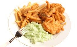 鸡正餐油煎的南部 免版税库存图片