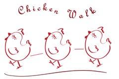 鸡步行 免版税库存照片