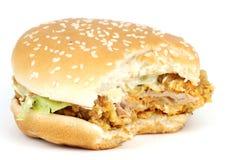 鸡汉堡包 免版税图库摄影