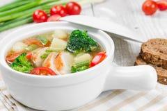 鸡汤蔬菜 免版税图库摄影