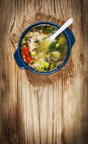 鸡汤蔬菜 库存图片
