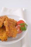 鸡油煎了肉 免版税库存照片