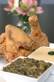 鸡油煎的南部 免版税图库摄影