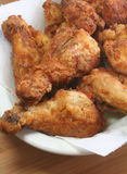 鸡油煎的垂直 库存照片