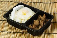 鸡油煎的大蒜用米 库存图片