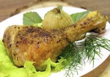 鸡油煎的季度 免版税库存图片