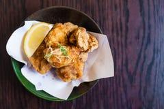 鸡油煎的日本食物 免版税库存图片