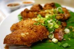 鸡油煎的泰国 免版税库存照片