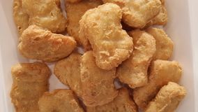 鸡油煎的矿块 免版税库存图片