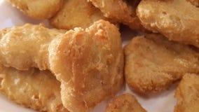 鸡油煎的矿块 免版税库存照片