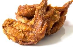 鸡油煎的翼 库存图片