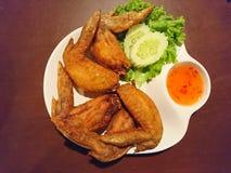 鸡油煎的翼 免版税图库摄影