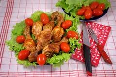 鸡油煎的蔬菜 免版税库存照片