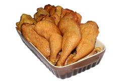 鸡油煎的部分 免版税库存图片