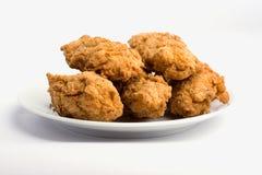 鸡油煎的鲜美翼 免版税库存照片