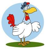 鸡法语母鸡 皇族释放例证