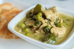 鸡泰国咖喱的绿色 库存照片
