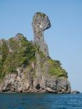 鸡海岛krabi泰国 库存图片