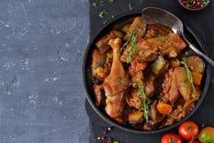 鸡炖与菜和蕃茄 库存图片