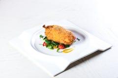 鸡炸肉排基辅 图库摄影