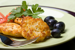 鸡炸肉排肉 免版税库存照片