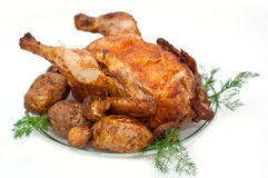 鸡烘烤 免版税图库摄影