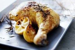 鸡烘烤 库存照片