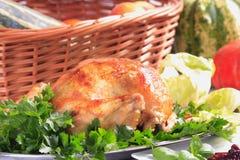 鸡烘烤 免版税库存照片