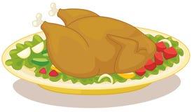 鸡烘烤 向量例证