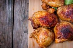 鸡烤了大腿 免版税库存照片