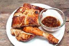 鸡烤牌照 库存图片