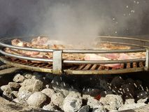 鸡烤肉 库存照片