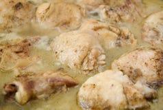 鸡烹调可口 免版税库存图片