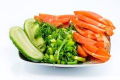 鸡熏制的蔬菜 库存图片
