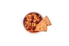鸡玉米粉薄烙饼汤,墨西哥烹调 库存照片