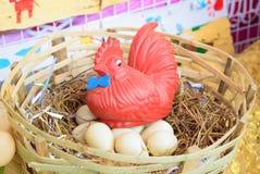 鸡玩具 库存照片