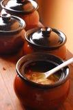 鸡瓷可口食物汤 库存图片