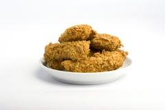鸡用了卤汁泡矿块 免版税库存照片