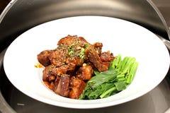 鸡用BBQ调味汁 图库摄影
