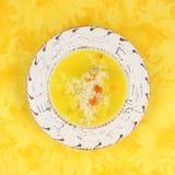 鸡米汤蔬菜 图库摄影