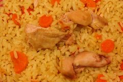 鸡米蔬菜 库存图片