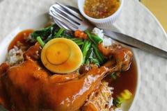 鸡米调味汁甜点 免版税库存图片