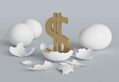 鸡美元鸡蛋 免版税库存图片