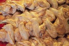 鸡翼烤肉 免版税库存照片