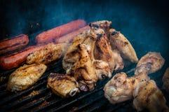 鸡翼烤肉 库存图片