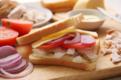鸡肉三明治 免版税图库摄影