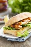 鸡肉三明治 免版税库存图片