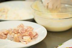 鸡肉小麦面粉 图库摄影