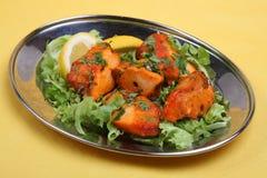 鸡肉菜肴食物印地安人tikka 免版税库存图片