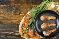 鸡腿蔬菜 库存图片